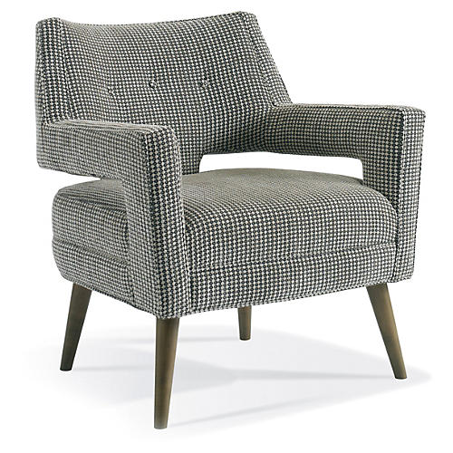Hunter Modern Accent Chair, Black