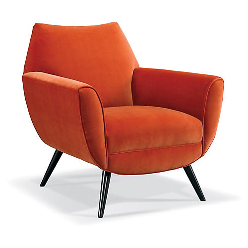 Finnegan Chair, Pumpkin Velvet