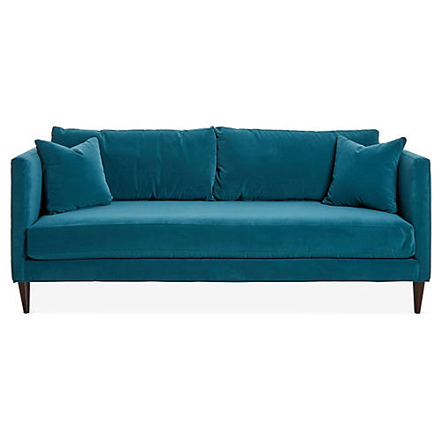 Michelle Sofa, Peacock Velvet