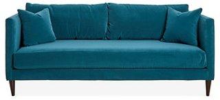 Michelle Sofa, Peacock Velvet   Sofas U0026 Settees   Living Room   Furniture    One Kings Lane