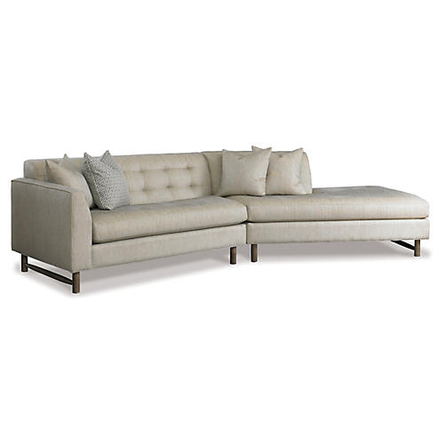 Keaton Sectional, Stone