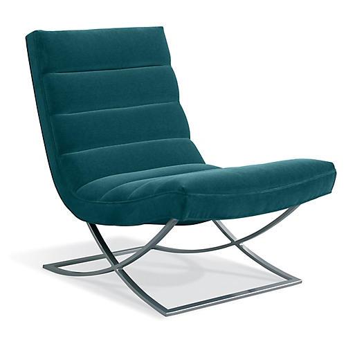 Felix Accent Chair, Peacock Crypton