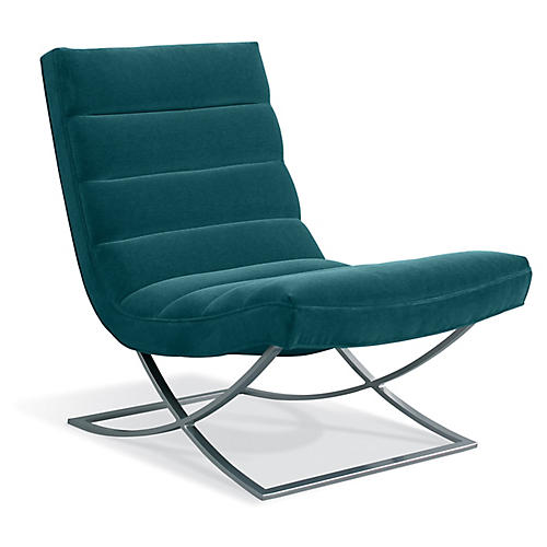 Felix Accent Chair, Peacock Crypton