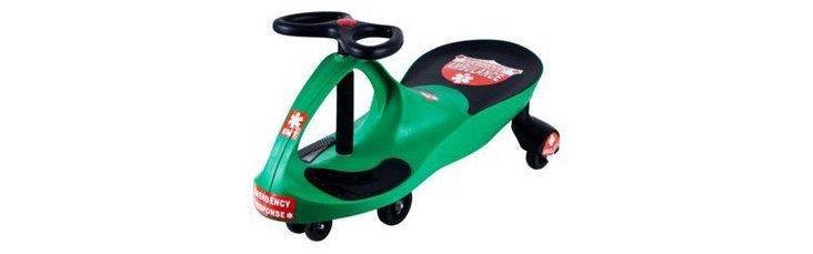 Responder Wiggle Ride-on Car, Green
