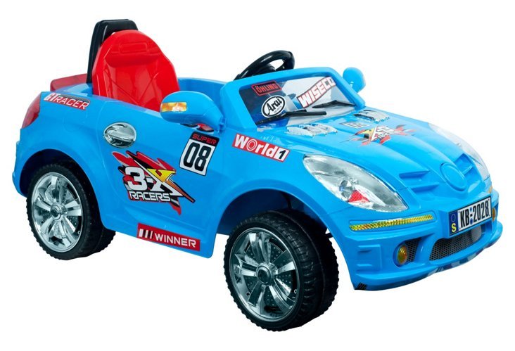 Battery-Powered Car w/ Remote, Blue