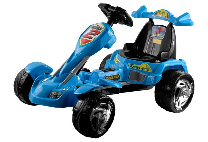 Ice Battery-Operated Go-Kart, Blue