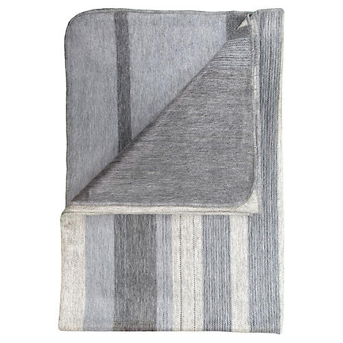 Vanilla Bean Alpaca Throw, Gray