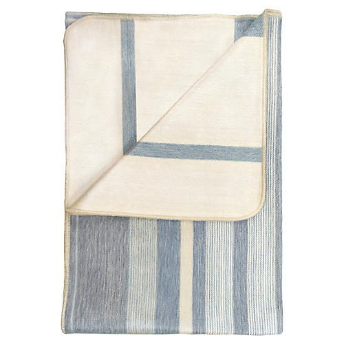 Catalina Alpaca Throw, Blue