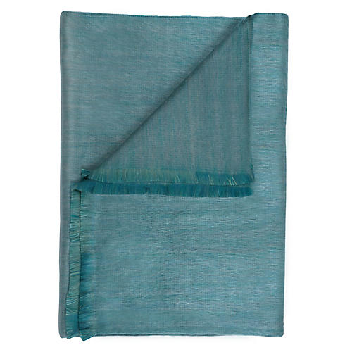 Sea Grass Alpaca Throw, Turquoise