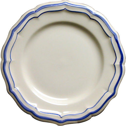 Fliet Bleu Canape Plate, White/Blue
