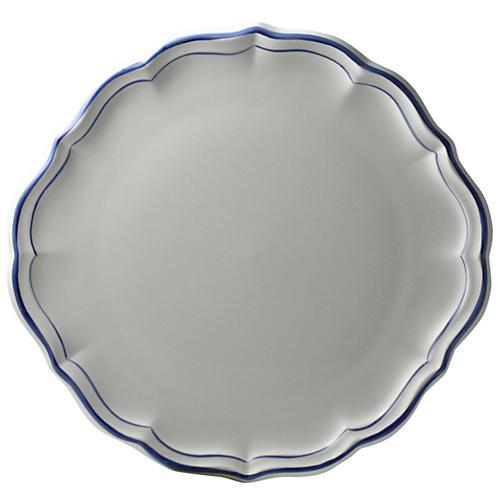 Fliet Bleu Cake Platter, White/Blue
