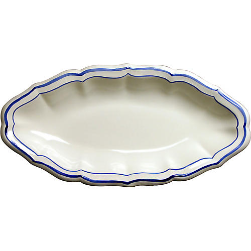 Fliet Bleu Serving Dish, White/Blue