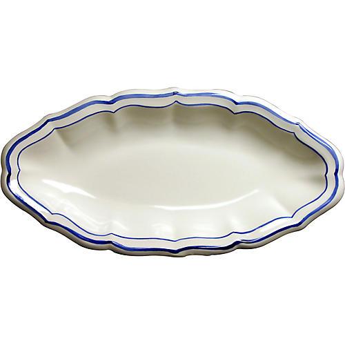 Fliet Bleu Serving Dish, White/Blue