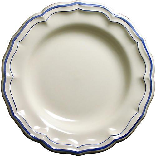 Fliet Bleu Deep-Round Serving Dish, White/Blue