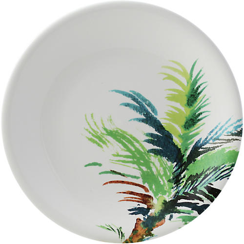 Jardins Palm Dinner Plate, White/Multi