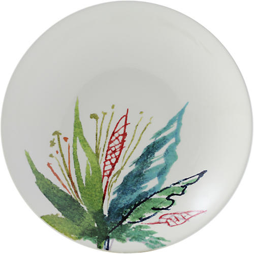 Jardins Dinner Plate, White/Multi