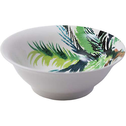 Jardins Serving Bowl, White/Multi