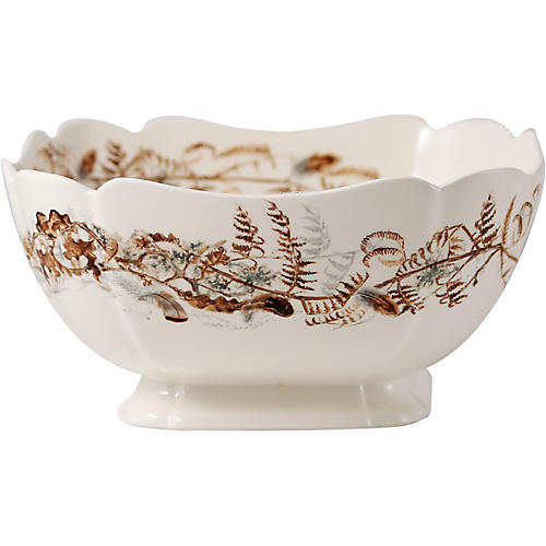 Sologne Foliage Serving Dish, Ivory/Multi
