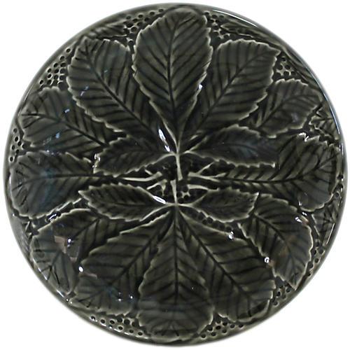 S/2 Reliefes Pepper Canapé Plates, Black