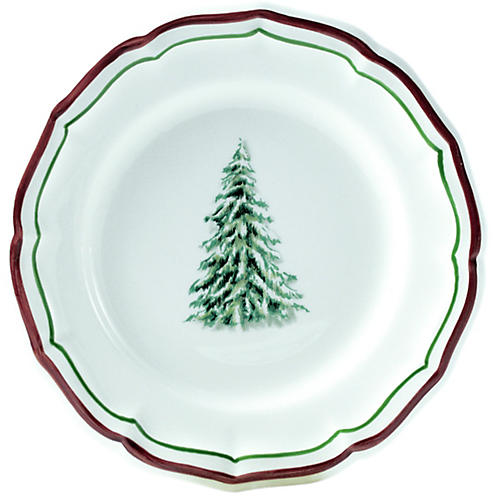 Noel Canapé Plate, White/Multi