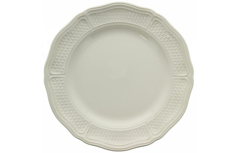 Pont Aux Choux Dinner Plate, White