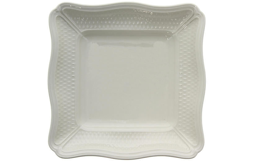 Pont Aux Choux Square Serving Bowl, White
