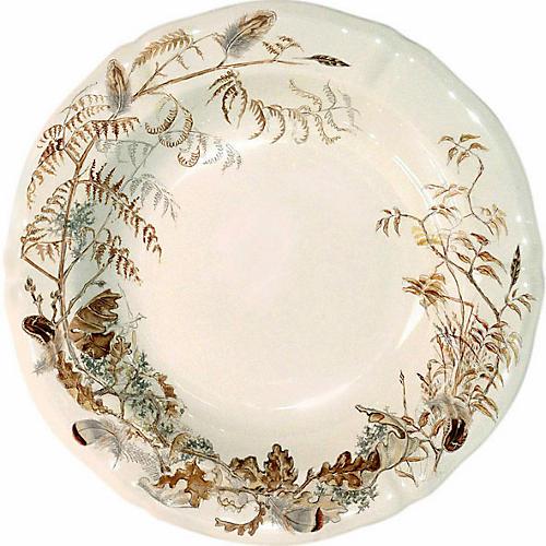 Sologne Soup Bowl, Ivory/Multi
