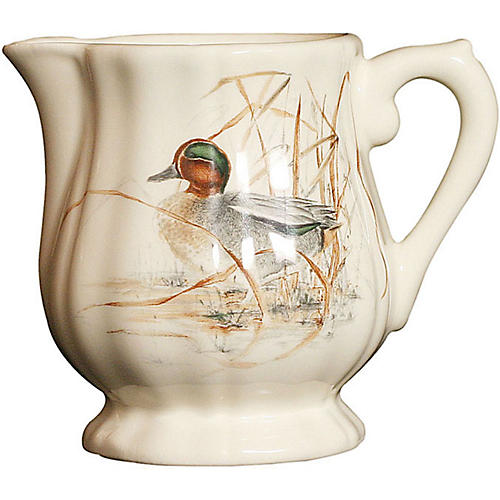 Sologne Duck Creamer, Cream/Multi
