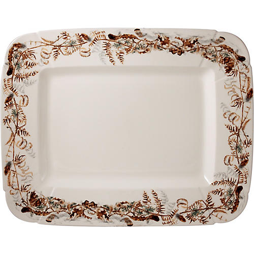Sologne Rectangular Platter, Ivory/Multi