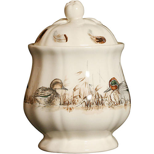 Sologne Sugar Bowl, Cream/Multi
