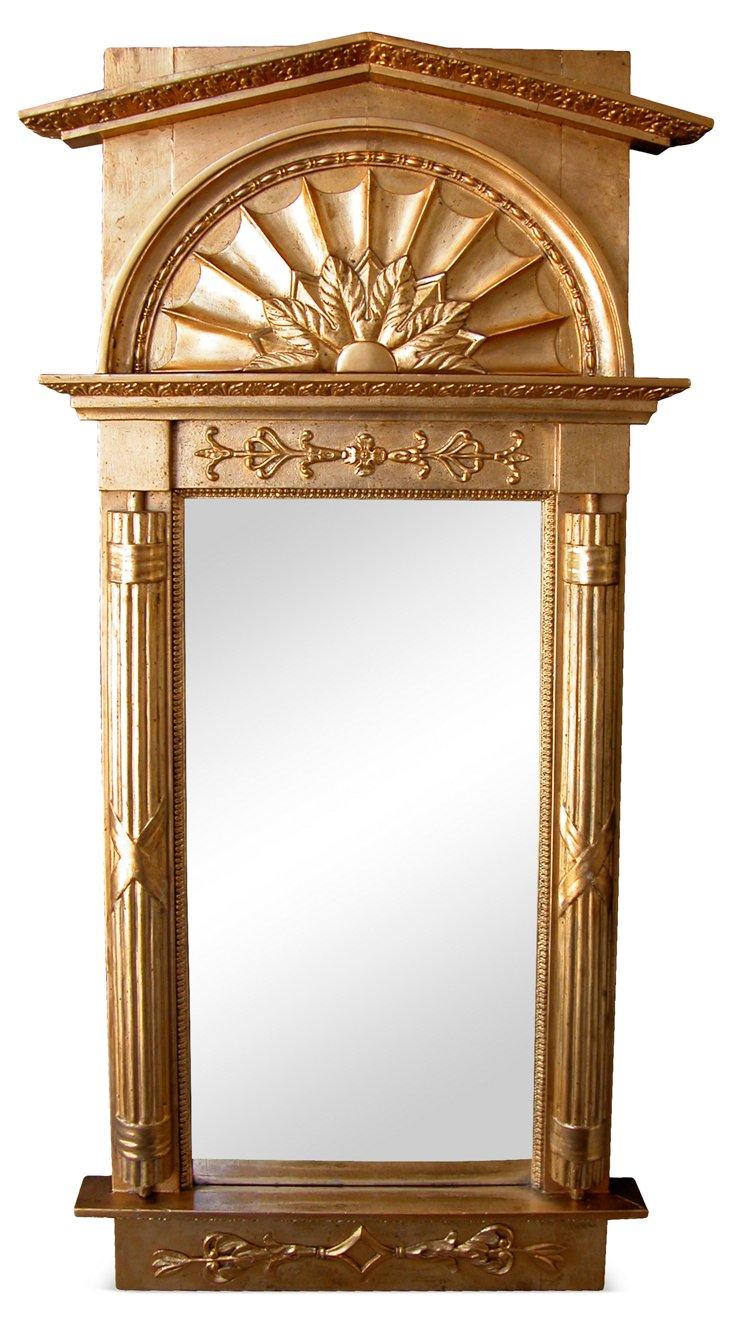 Swedish Empire Giltwood Mirror