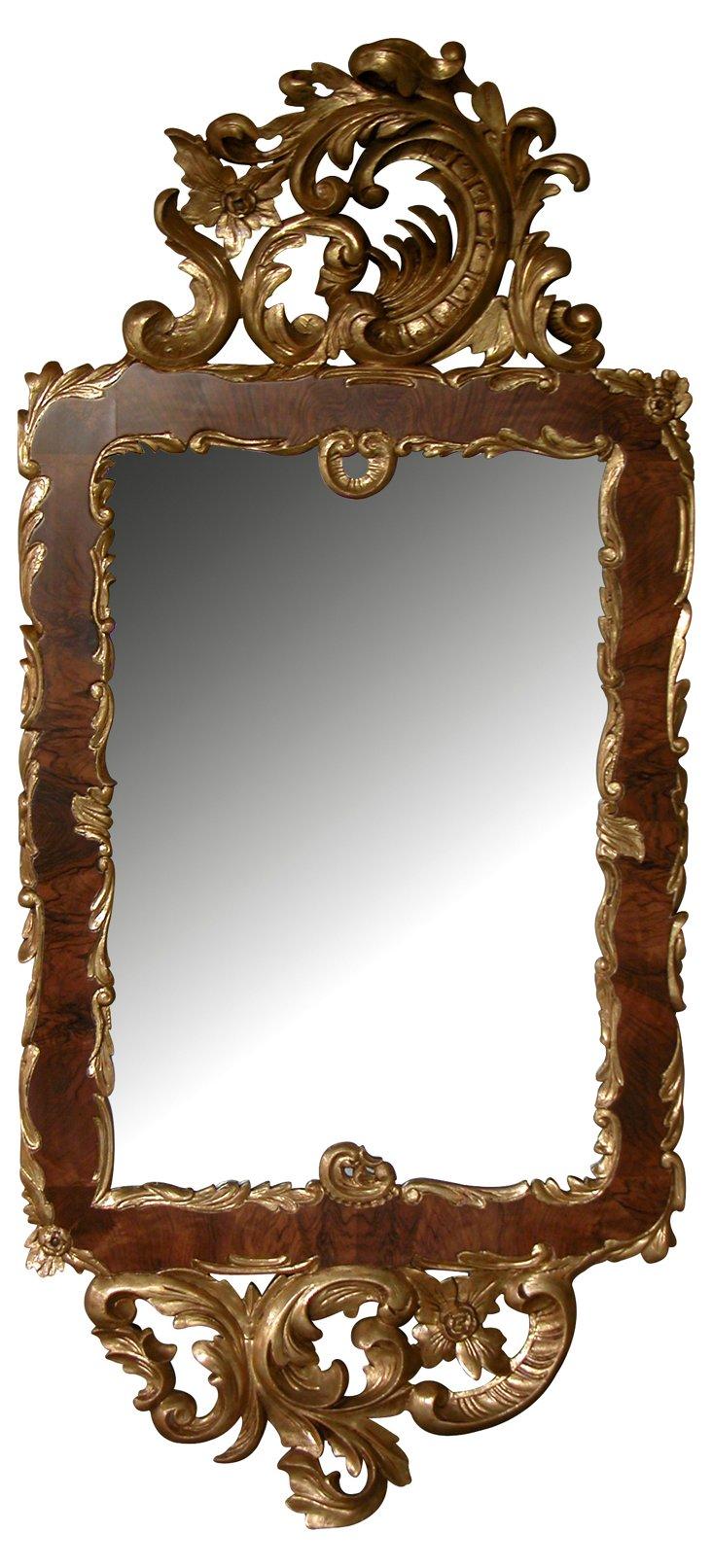 Rococo-Style Giltwood Mirror