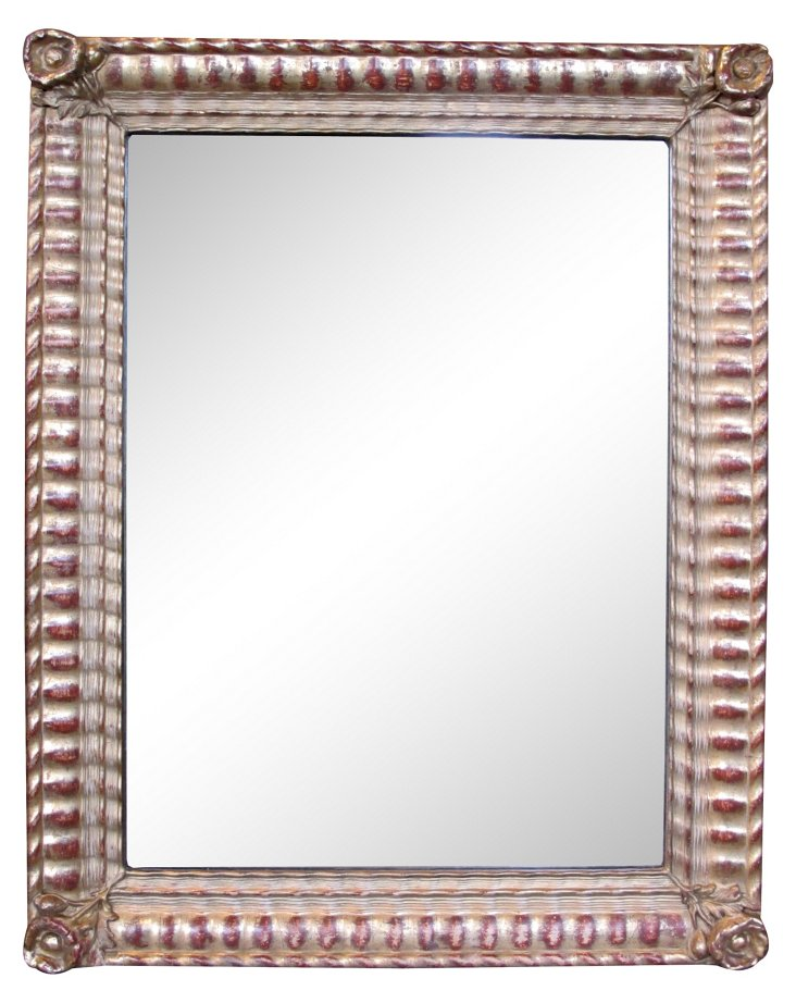 French Rectangular Giltwood Mirror