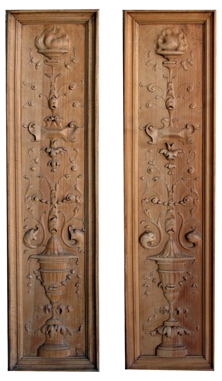 French Classical-Revival Panels, Pair
