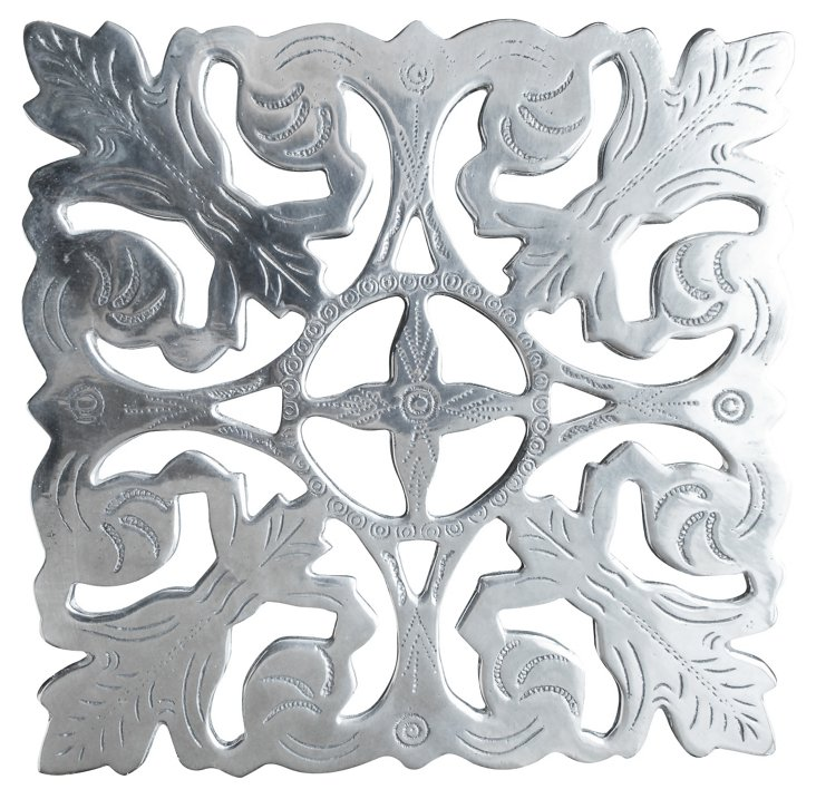 Metal Trivet w/ Silver Maharadja
