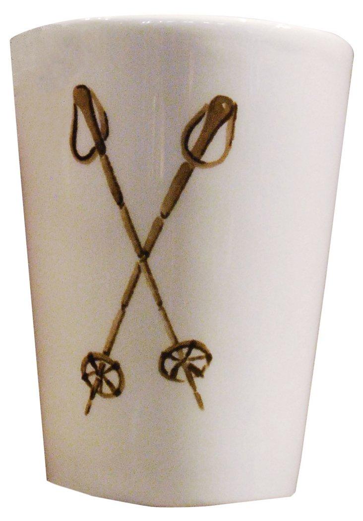 S/2 Ski Pole Espresso Cups