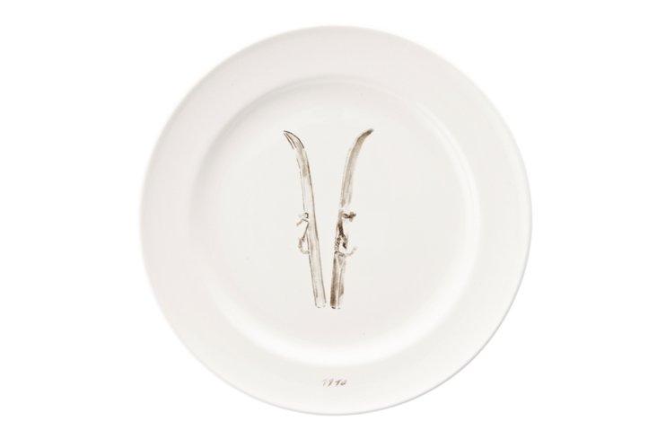 S/2 Small Pâté Plates, Skis