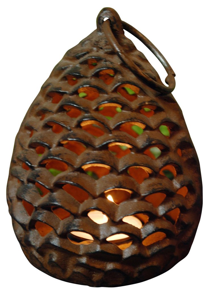 """6"""" Pinecone Lantern"""