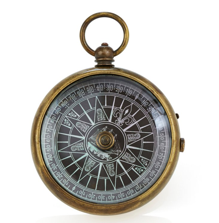 Floating Brass Compass