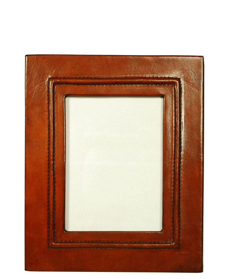 9x11 Brown Leather Frame