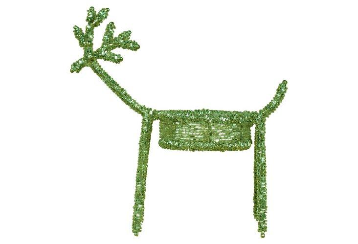 Deer Votive w/ Silver Pearls