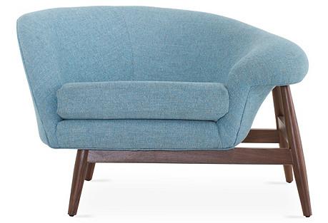 Blythe Accent Chair, Aqua