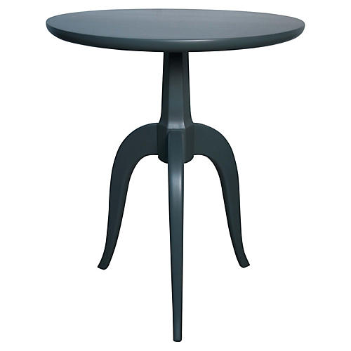 Corin Side Table, Blue