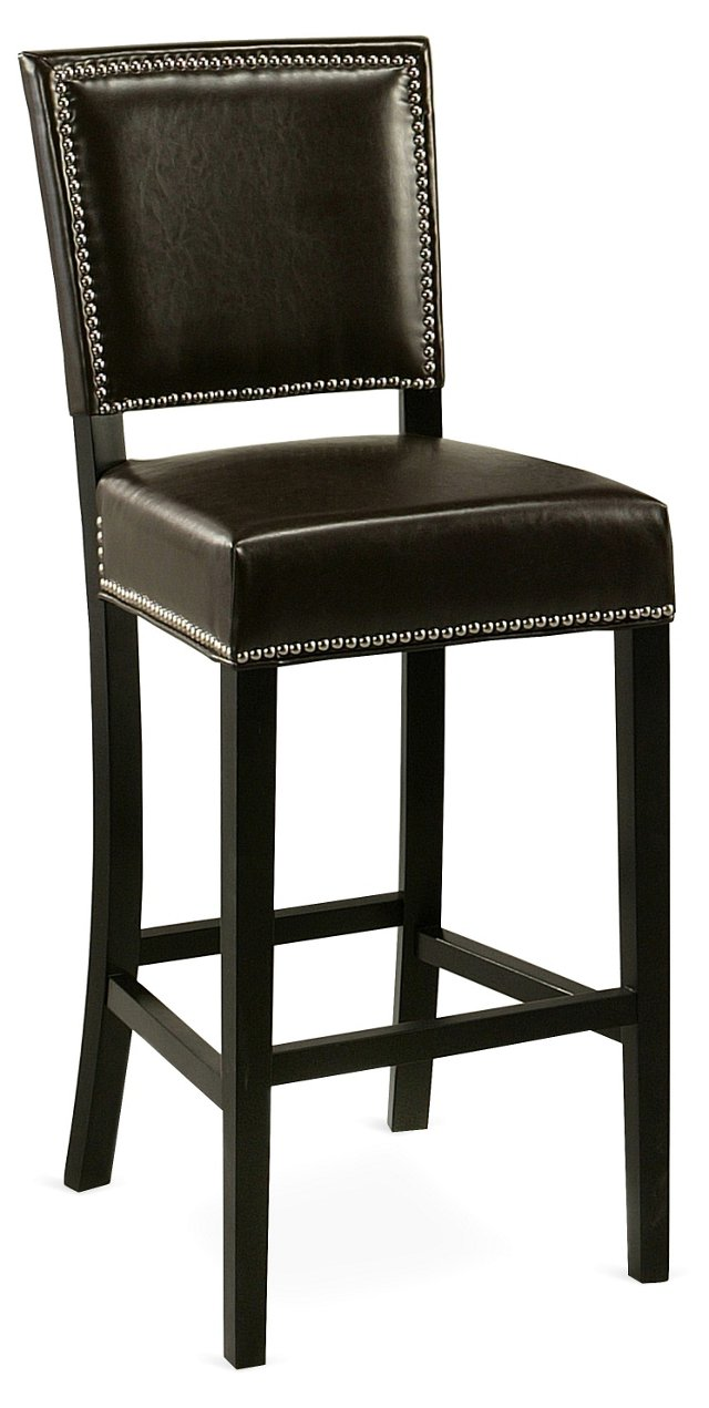 Rob Leather Counter Stool, Brown