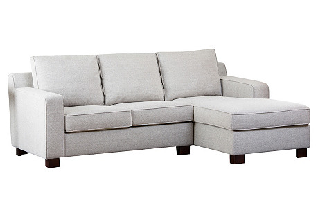 Julia Right-Facing Sectional, Cream
