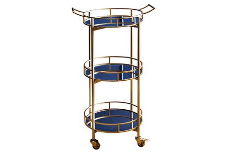 Tabata 3-Tier Bar Cart,  Gold