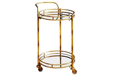 Taylor 2-Tier Bar Cart, Gold