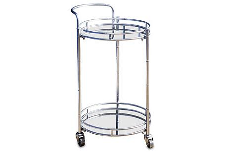 Taylor 2-Tier Bar Cart, Silver