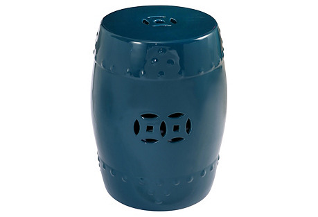 Serena Ceramic Garden Stool, Teal