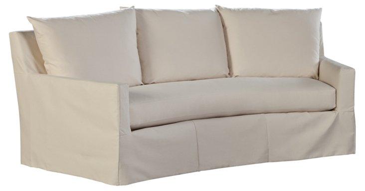 Elena Outdoor Crescent Sofa, Cream